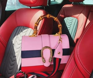 gucci, bag, and car image