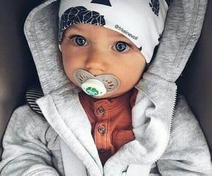 bonnet, bébé, and tétine image