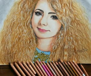 art, drawing, and bighair image