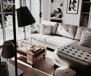 home, interior, and black image