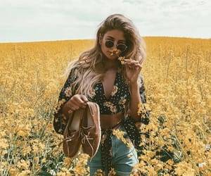blonde, fashion, and field image
