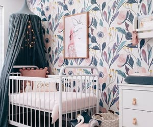 room, baby room, and flowers image