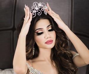 beautiful, crown, and makeup image