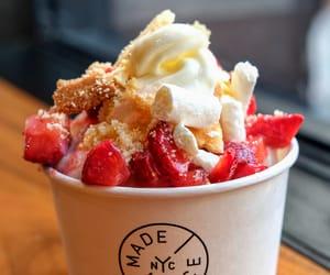 ice cream, nyc, and strawberry shortcake image