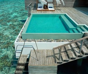 ocean, pool, and relax image