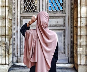 beauty, girl, and hijab image