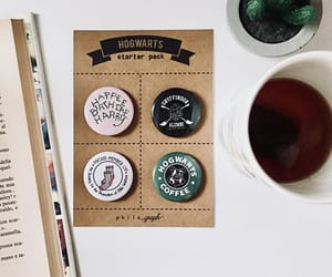 badge, book lovers, and coffee image