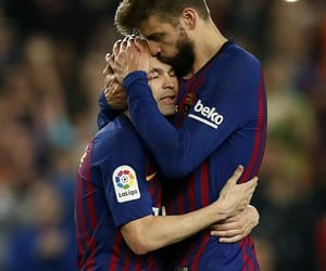 messi, pique, and champions image