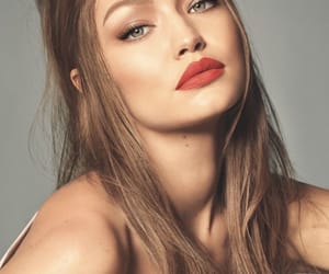 hair, makeup, and gigi hadid image