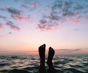 ocean, paradise, and sky image