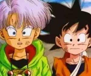 dragon ball, trunks, and goten image