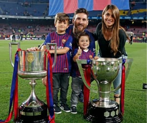 Barcelona, family, and father and son image