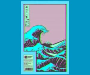 aesthetic, waves, and blue image