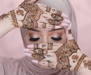 henna, modest, and hijab image