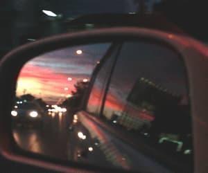 gif, car, and sunset image