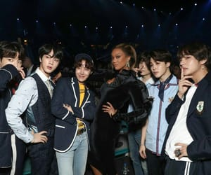 jin, tyra banks, and v image