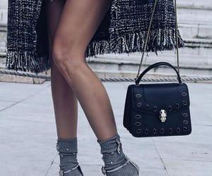black dress, fashion, and fashion girl image