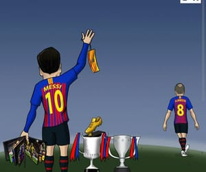cartoon, emotional, and iniesta image