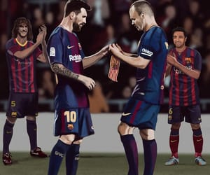 Barcelona, captain, and cartoon image