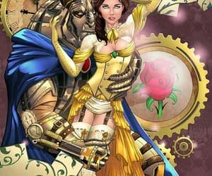 beast, disney, and belle image