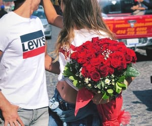 flowers, levi's, and married image
