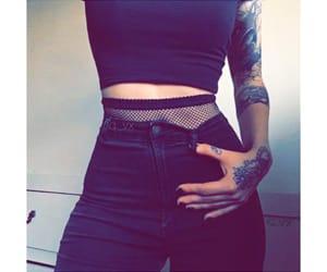 black, tattoo, and fashion image