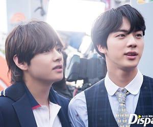jin, v, and seokjin image