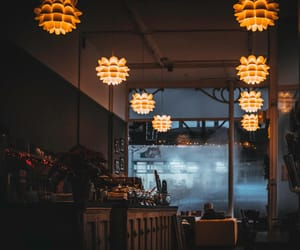 cafe, cozy, and dark image