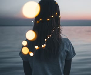 girl, light, and indie image