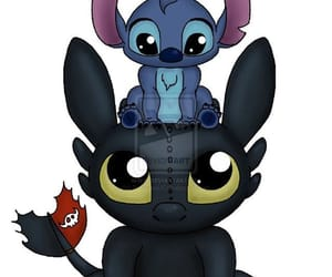 stitch and toothless image