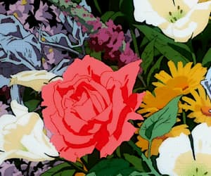 gif, flowers, and rose image