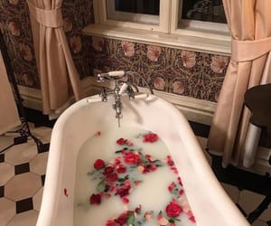 bath, beauty, and flower image