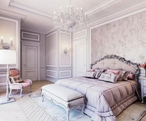 bedroom, decoration, and luxury image