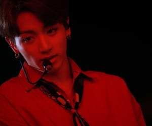 red, bts, and jeon jungkook image