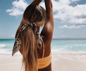 beach, hairstyle, and paradise image