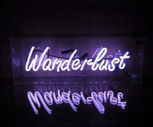 aesthetic, wanderlust, and led signs image