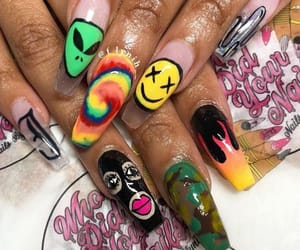 acrylic, long, and ghetto nails image