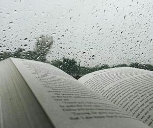 book, rain, and aesthetic image