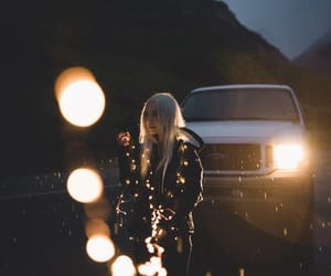 blonde, fairy lights, and fashion image