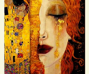 cry, klimt, and art image