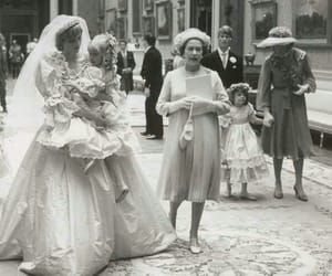 black and white, the bride, and princess diana image