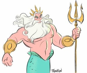 80s, the little mermaid, and king triton image