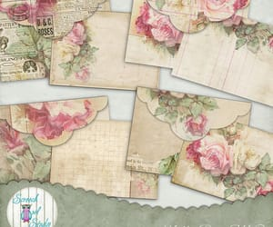 etsy, roses, and junk journal image