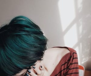 blue hair, color, and colorful hair image