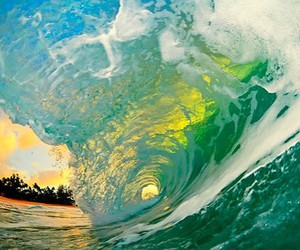 waves, sea, and beach image