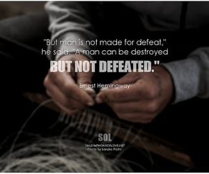 determination, ernest hemingway, and inspirational words image