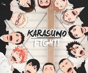 haikyuu, anime, and karasuno image