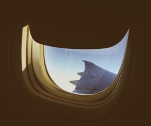 airplane, light, and trave image