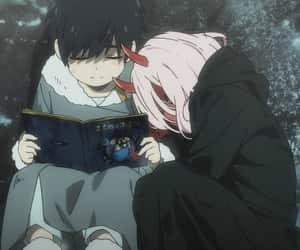 anime, hiro, and zero two image