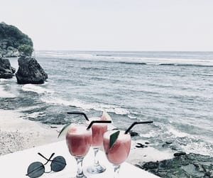 summer, beach, and drinks image